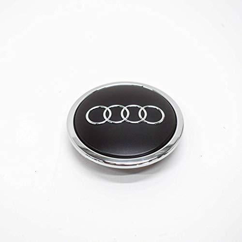 Radzierkappe Original Audi Nabenkappe Tuning Deckel für Alufelgen schwarz-matt