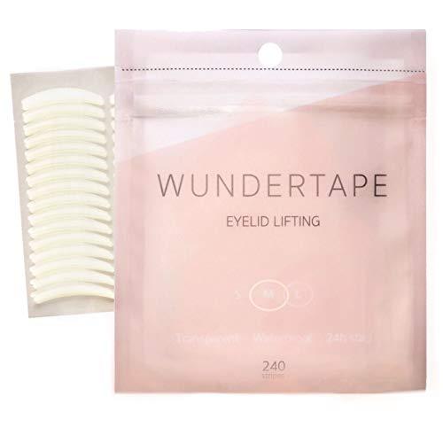 Schlupflider Stripes WUNDERTAPE® (240 Stück | Größe M) Schlupflid-Tape Streifen zum Augenlid-Lifting ohne OP! (wasserfest, 24h Halt, double eyelid lifting tapes) Augenlid-Tape
