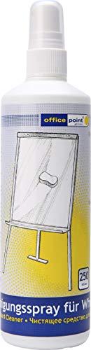 Reinigungsspray 250 ml | Tafelreiniger für trocken abwischbare Whiteboards OFFICE POINT | Boardreiniger für Schreibtafeln, Weißwandtafeln, Boards, Flipchart | Sprayflasche (Pumpspray) (1)