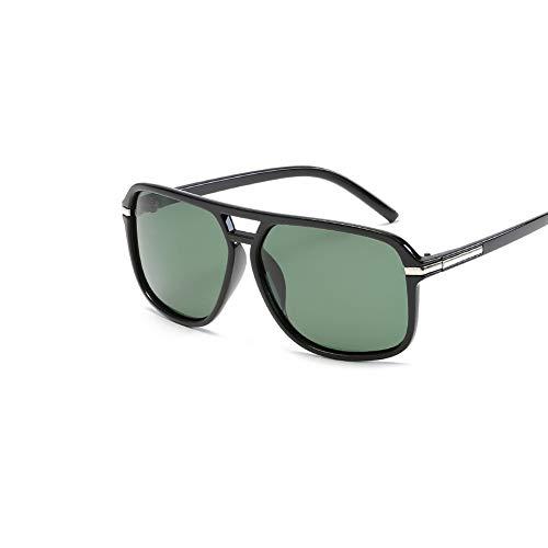 DSFHKUYB Gafas de Sol Retro polarizadas para Mujer con Gafas de Sol con Montura TR90 Estilo Vintage Redondo,Verde