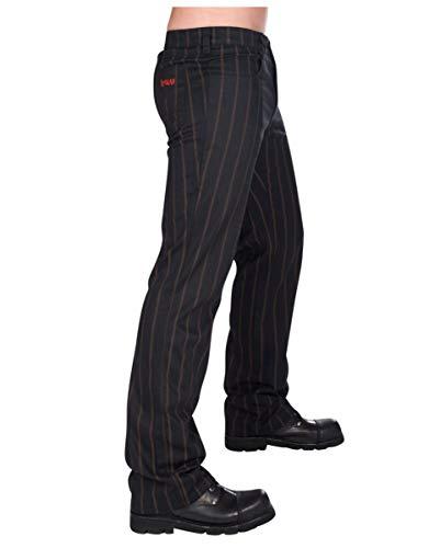 Horror-Shop Aderlass Steampunk Hose mit Streifen schwarz/braun 30