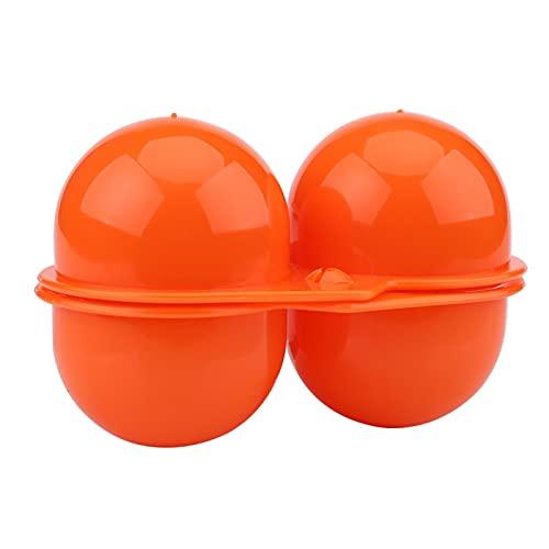 CjnJX-Vases Huevo Portátil, Plástico 2 uds Portador de Huevos Contenedor de Caja de Almacenamiento de Huevos para Picnic al Aire Libre Uso de Camping(Naranja)