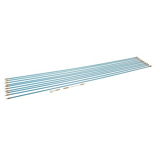Silverline 633531 Kabelverlegewerkzeug, 13-tlg. Satz 10 x 1 m