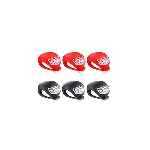6 Stück LED Fahrradlicht, LED Sicherheitslicht Silikon Leuchte, Blinklicht Schulranzen Kinder Roller leuchten Räder Roller Lichter Rollerlichter für Kinder Silikon Fahrrad Lichter Mikrorollerlicht (A)
