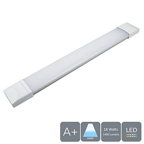 AUROLITE IP65 60 cm 18 W LED strip Slim Tri-proof plafondlamp, daglicht 6000 K, 1400 lm, corrosiebestendig, ideaal voor garages, werkplaats, schuur, kassen of kantoor