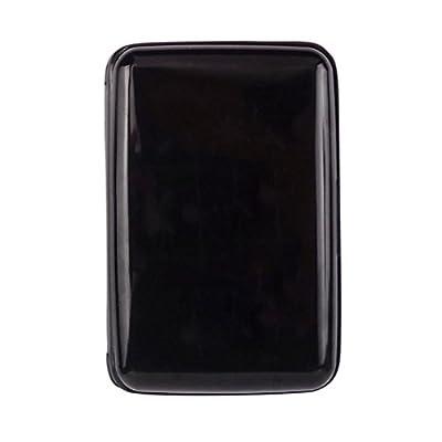 "Waterproof Business Id Credit Card Wallet Holder Aluminum Metal Case Box (4.33 * 2.95"", Black)"