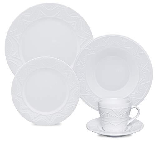 1 Aparelho De Jantar/chá 30 Peças Serena White - Nm31-7600 Oxford Daily Branco