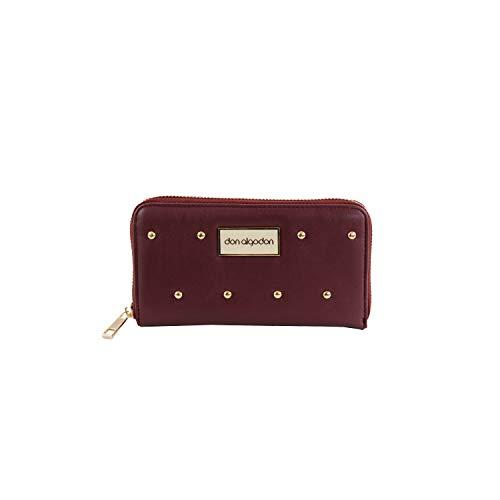 Don algodón Urban, Cartera monedero billetera de mujer, Vino, 18x10x3 cm