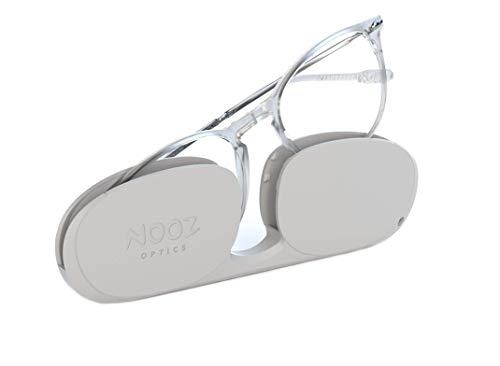 Nooz Optics - Gafas contra la luz azul sin corrección Hombre y Mujer para Ordenador, Smartphone, Gaming o Televisión - Forma Ovalada - Color Crystal - Colección Alba
