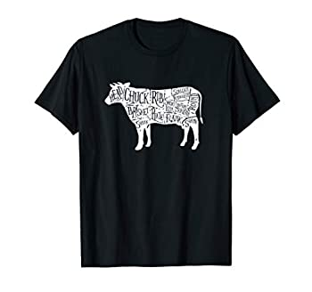 Cow Butcher Tees - Beef Cuts Diagram T-Shirt