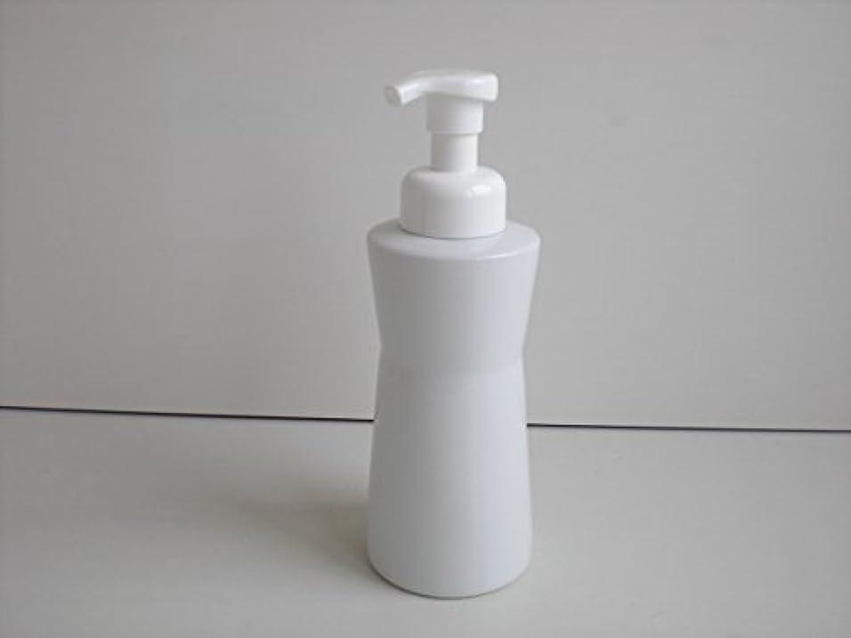 貫入常識アンテナ泡ポンプ 泡ボディ ホワイトガーデンムースボディポンプ  500ml 白磁器