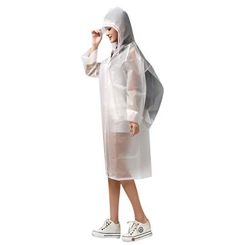 Poncho lluvia capucha impermeable capa de lluvia EVA chaqueta de...