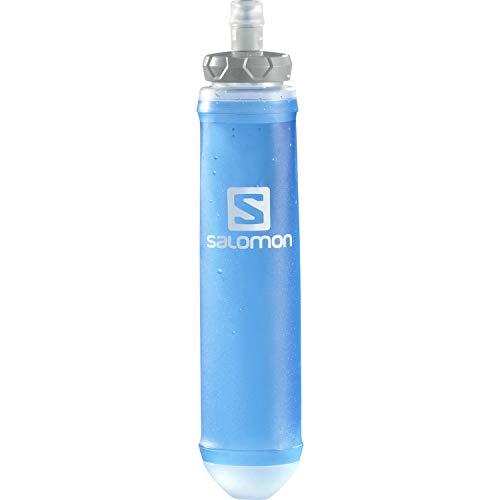 [サロモン] ハイドレーション ボトル 折りたたみ 携帯 水筒 SOFT FLASK 500ml/17oz SPEED (ソフト フラスク500/17 スピード) CLEAR BLUE
