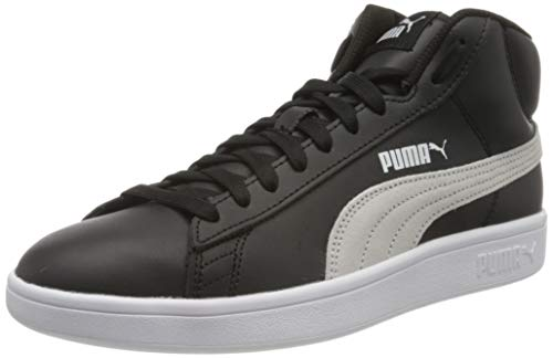 Puma Smash V2 Mid L', Sneaker a Collo Alto Unisex-Adulto, Nero Black White, 43 EU