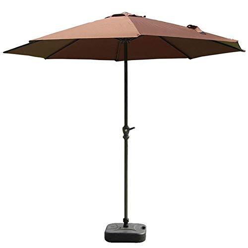 9FT Patio Umbrella Brown Outdoor Parapluies de Table avec manivelle et 8 Nervures Robustes pour Le Jardin, l'arrière-Cour, Le Pont, la Piscine et Plus Encore (Couleur: Brun, Taille: 9ft / 27