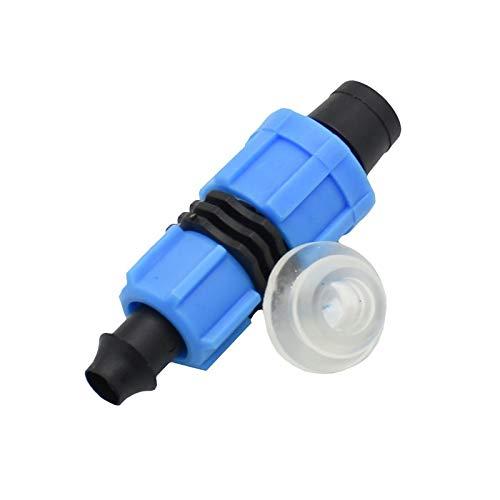 YEZIB Conexión de tubería de Agua 30pcs 16mm Conectores de Cinta de Goteo de 5/8' de riego del Invernadero Secuencia Bloqueada Jardín de riego por Goteo Sistema de Accesorios de tubería para jardín