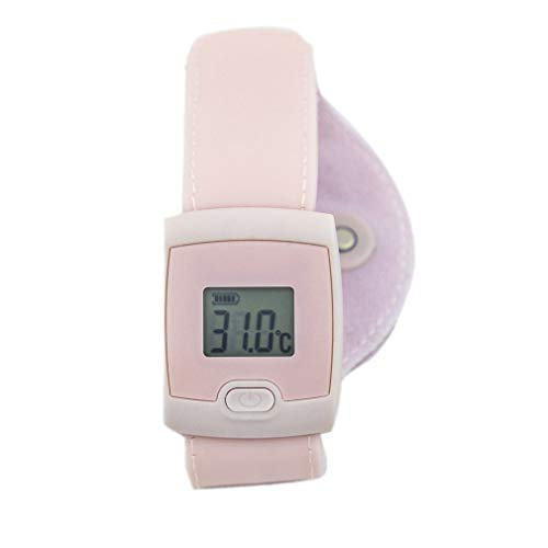 Zeerkeer Smart Thermometer Bluetooth 4.0 Draadloze Smart Watch Thermometer voor Babys Koorts Monitor Polsband Real-time Nauwkeurige Remote Monitoring op Smartphone App roze