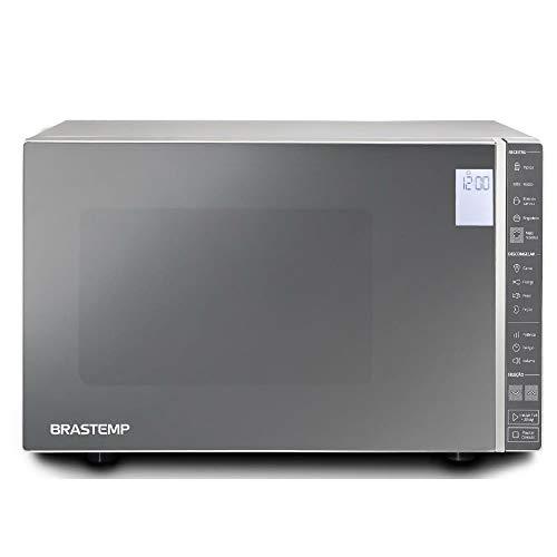Micro-ondas Brastemp 32 Litros cor Inox Espelhado com Painel Integrado 110V