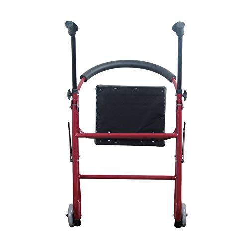XJZHAN Rehabilitación Ejercicio Marco para Caminar con Ruedas con Asiento Acolchado Ligero Walker Rollator Anciano Discapacitado Ayuda de traslado