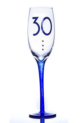BOXER 30 30e anniversaire flûtes à champagne avec cristaux dans une boîte cadeau