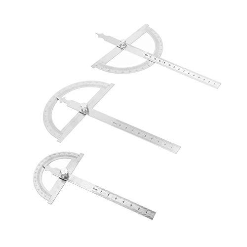 HSJWOSA Eficiencia 0-180 Grado de Acero Inoxidable Transportador Goniómetro Angle Finder Calibre 15 cm Regla 80 * 120 * 120 mm 150 mm 150 * 200mm La Medida (Color : 150x200mm)