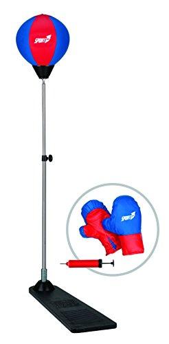 Sport1 Punching Set con pedana e guantoni per Bambini Rosso/Blu 90-125cm