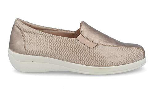 DOCTOR CUTILLAS - Zapato Elásticos Licra Adaptable y Piel - Crema, 37