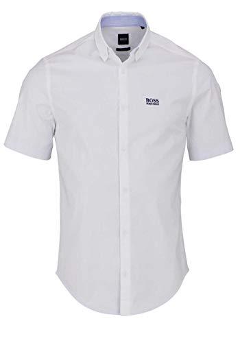 BOSS Herren BIADIA_R Freizeithemd, Weiß (White 100), (Herstellergröße: XX-Large)