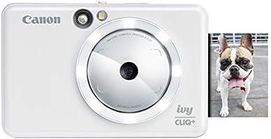 Canon IVY CLIQ+ Instant Camera Printer,Smartphone Photo Printer Via Bluetooth(R), Pearl White