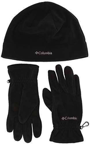 Columbia Fast Trek Ensemble Bonnet et Gants Unisex-Adult, Black, FR (Taille Fabricant : XL)