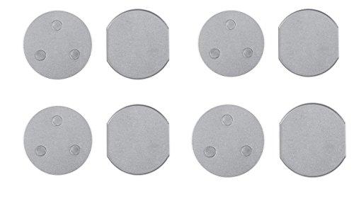 Smartwares RMAG60/4 4er Set Magnetbefestigungsset für Mini Standard-Rauchmelder, 6cm Durchmesser, 6 cm, 4 Stück