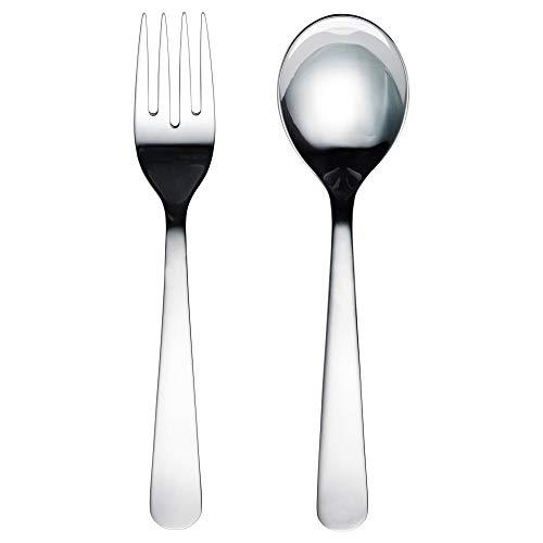 IKEA 902.356.26 Dragon - Juego de 2 utensilios para servir ensalada (acero inoxidable)