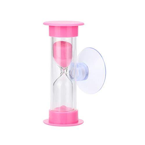FUNRE 1Pc Zahnbürste Swivel Sand Timer 3minutes Dusche Timer Multicolor Kinder Sanduhr Miniglas Sand Clock for die Zähne Gadget 10 (Color : PK)