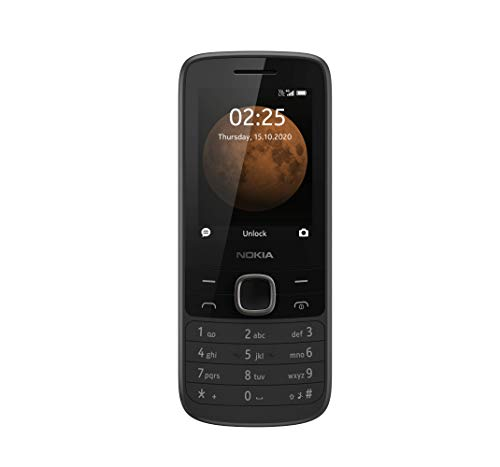 Nokia 225 Unlocked 4G Cell Phone, Black (AT&T/T-Mobile/Cricket/Tracfone/Simple Mobile)
