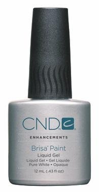 Creative Nail Brisa Paint Opaque False Nails, Pure White, 0.43 Fluid Ounce by Creative Nail (English Manual)