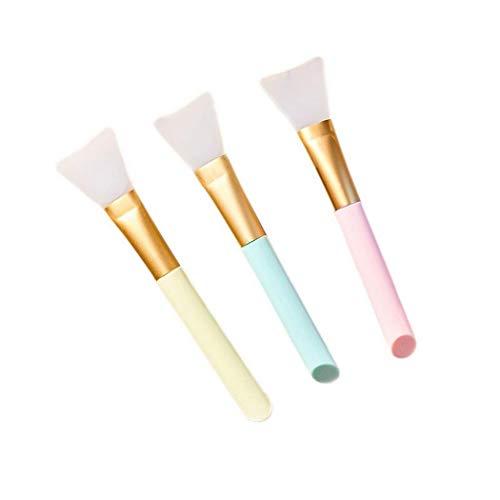 Pongaps gezichtsmaskerborstel, haarloze siliconen cosmetische schrapers, gezichtskwasten voor het aanbrengen van gezichtsmasker, oogmasker, serum of doe-het-zelf-behoeften Eén maat Blue 3pcs
