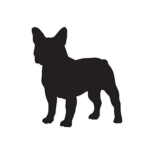 French Bulldog Dog Breed Silhouette - Vinyl Decal Sticker - 5.75' x 6.25' - Black