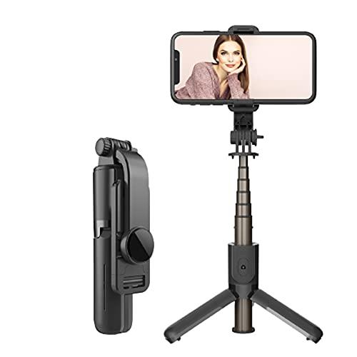 Soporte Movil TeléFono Selfie Stick PortáTil De AleacióN De Aluminio RetráCtil Bluetooth Control Remoto Todo En Uno TransmisióN En Vivo Adecuada para Todos Los TeléFonos MóViles Y Tabletas,B