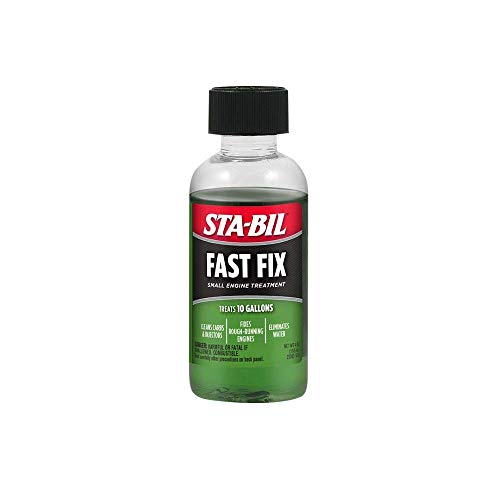 STA-BIL (22303 Fast Fix Small Engine Treatment - Cleans Carbs and Injectors - Fixes Rough Running Engines - Eliminates Water - Treats 10 Gallons, 4 fl. oz.