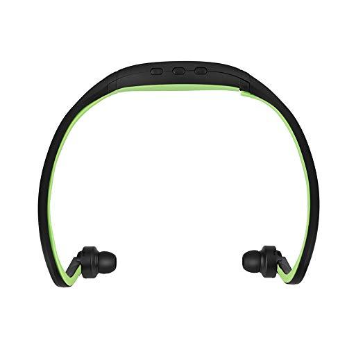 ANGGREK Sport Wireless Bluetooth 4.1 Earphone Stereo Headphones Noise reduction Headset w/Mic TF Card Slot (green)