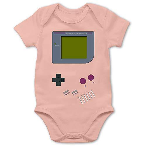 Shirtracer Strampler Motive - Gameboy - 1/3 Monate - Babyrosa - Gameboy Baby Strampler - BZ10 - Baby Body Kurzarm für Jungen und Mädchen