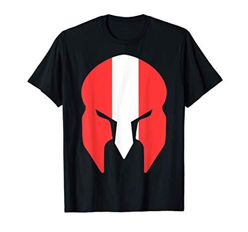 Österreich Fahne Flagge Spartaner Helm T-Shirt