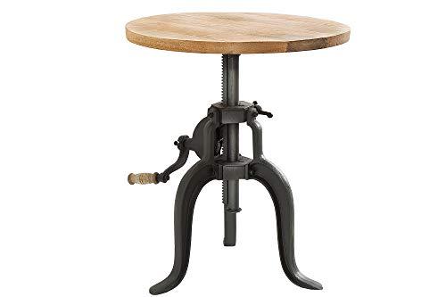 DuNord Design salontafel massief hout mango natuur zwart ijzer 50 cm