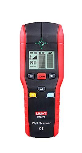 Detector digital (1 batería de bloque de 9 V, profundidad de detección máxima en cables de acero/cobre/cable vivo: 120/80/50 mm)
