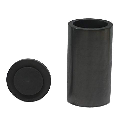 OTOOLWORLD Smelting Lab Graphite Crucible with Cover Lab Supply 45MM X 80MM