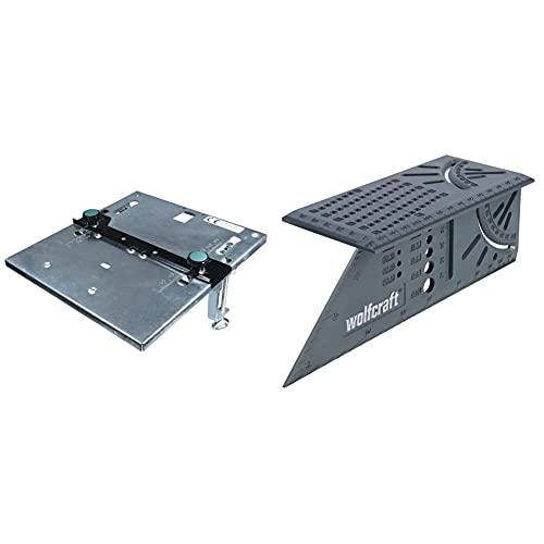 Wolfcraft 6197000 6197000-1 Mesa De Sierra De Calar (Ce) + 5208000 Escuadra (Regla) 3D, 0 W, 0 V, Gris, 150 X 275 X 66 Mm