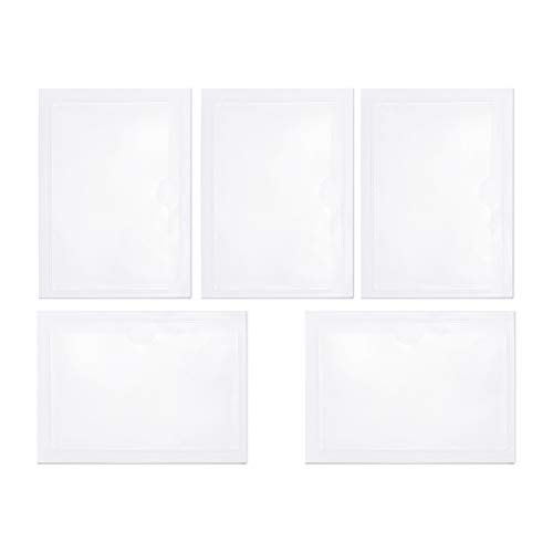 Neworkg 30 Pack Top Loading Pockets, 3.8 x 5.3 Inches Self-Adhesive Index Card Pockets - Ideal Card Holder for Protecting Your Index Cards, Clear