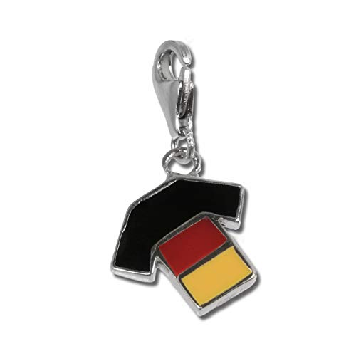 SilberDream Anhänger Charm Trikot Deutschland Mehrfarbig 925 Silber D2FC701 EIN schönes Geschenk zu Weihnachten, Geburtstag, Valentinstag für die Frau