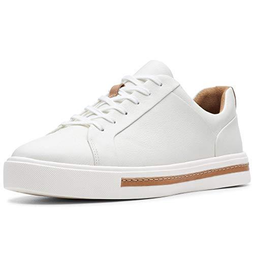 Clarks Damen Un Maui Lace Sneaker, Weiß (White Leather), 41.5 EU