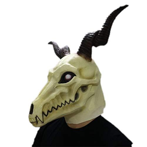 Halloween Mscara Mscara de Cabeza de ltex, Halloween The Ancient Magus 'Bride Anime Cosplay Elias Ainsworth Disfraz de Fantasma de Terror Devil Bloody Creepy Fancy Dress